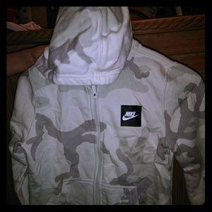 Nike camouflage hoodie